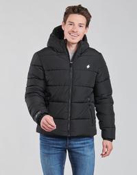 Vêtements Homme Doudounes Superdry HOODED SPORTS PUFFER Noir