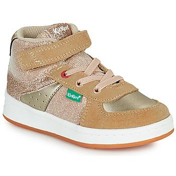 Chaussures Fille Baskets montantes Kickers BILBON MID Beige