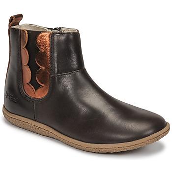 Chaussures Fille Boots Kickers VETUDI Marron