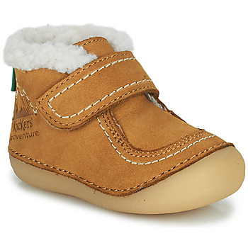 Chaussures Fille Boots Kickers SOMOONS Camel