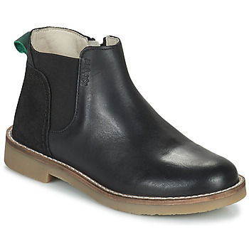 Chaussures Fille Boots Kickers NY KICK Noir