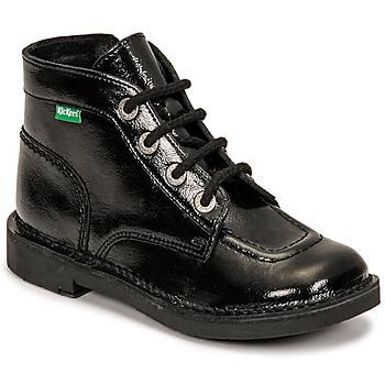 Chaussures Fille Boots Kickers KICK COLZ Noir