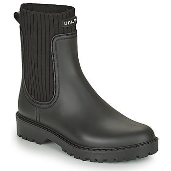 Chaussures Femme Bottes de pluie Unisa AYNAR Noir