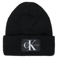 Accessoires textile Femme Bonnets Calvin Klein Jeans MONOGRAM BEANIE WL Noir