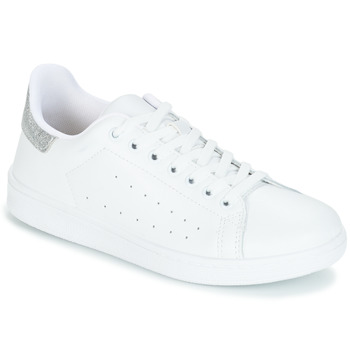 Chaussures Femme Baskets basses Yurban SATURNA Blanc / Argent