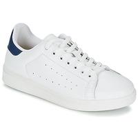 Chaussures Homme Baskets basses Yurban SATURNA Blanc / Marine