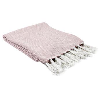 Maison & Déco Plaids, jetés The home deco factory SOPHIE Blanc-Rose Pale
