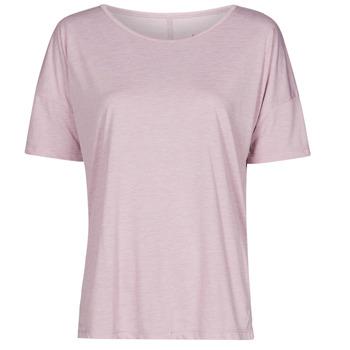 Vêtements Femme T-shirts manches courtes Nike NIKE YOGA Violet