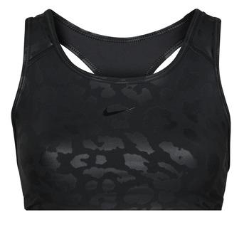 Vêtements Femme Brassières de sport Nike W NP DF SWSH LEPARD SHINE BRA Noir