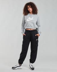 Vêtements Femme Pantalons de survêtement Nike W NSW ESSNTL FLC MR CRGO PNT Noir / Blanc