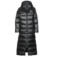 Vêtements Femme Doudounes Nike W NSW TF CITY HD PARKA Noir / Blanc