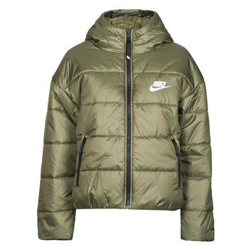 Vêtements Femme Doudounes Nike W NSW TF RPL CLASSIC HD JKT Kaki / Blanc