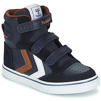 Chaussures Enfant Baskets montantes Hummel STADIL PRO JR Bleu / Marron