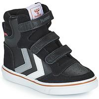 Chaussures Enfant Baskets montantes Hummel STADIL PRO JR Noir / Gris