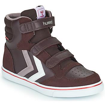 Chaussures Fille Baskets montantes Hummel STADIL PRO JR Bordeaux