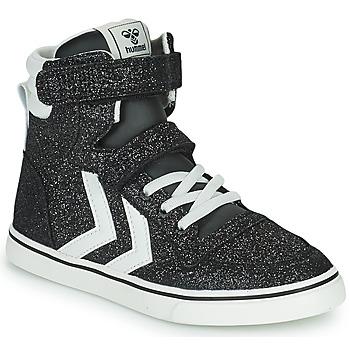 Chaussures Enfant Baskets montantes Hummel SLIMMER STADIL GLITTER JR Argenté