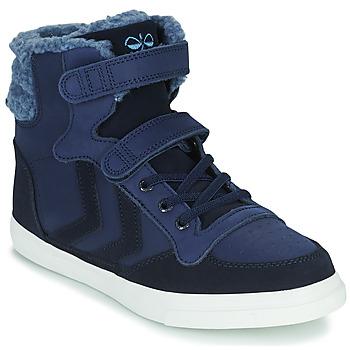 Chaussures Enfant Baskets montantes Hummel STADIL WINTER HIGH JR Bleu