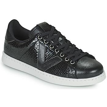 Chaussures Femme Baskets basses Victoria TENIS SERPIENTE Noir