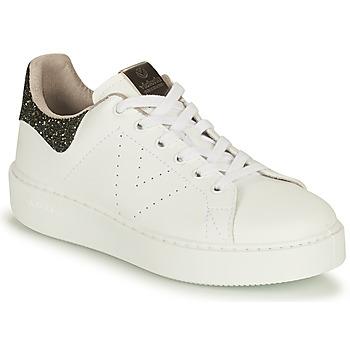 Chaussures Femme Baskets basses Victoria UTOPIA VEGANA GLITTER Blanc / Noir