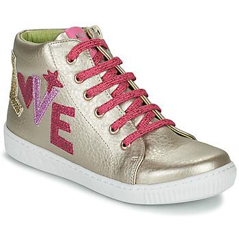 Chaussures Fille Baskets montantes Agatha Ruiz de la Prada FLOW Beige / Rosé