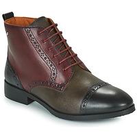 Chaussures Femme Boots Pikolinos ROYAL Bordeaux / Noir / Marron
