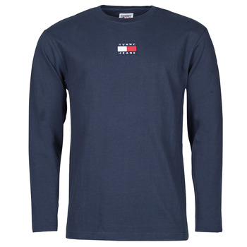 Vêtements Homme T-shirts manches longues Tommy Jeans TJM LS TOMMY BADGE TEE Marine