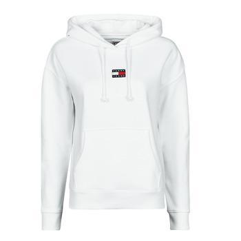 Vêtements Femme Sweats Tommy Jeans TJW TOMMY CENTER BADGE HOODIE Blanc