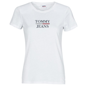 Vêtements Femme T-shirts manches courtes Tommy Jeans TJW SKINNY ESSENTIAL TOMMY T SS Blanc