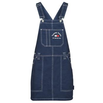 Vêtements Femme Combinaisons / Salopettes Tommy Jeans TJW TIMELESS DUNGAREE DRESS Bleu Medium