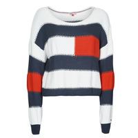 Vêtements Femme Pulls Tommy Jeans TJW  RWB STRIPE SWEATER Bleu / Blanc / Rouge
