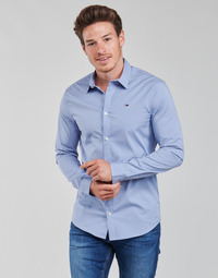 Vêtements Homme Chemises manches longues Tommy Jeans TJM ORIGINAL STRETCH SHIRT Bleu