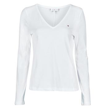 Vêtements Femme T-shirts manches longues Tommy Hilfiger REGULAR CLASSIC V-NK TOP LS Blanc