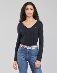Vêtements Femme T-shirts manches longues Tommy Hilfiger REGULAR CLASSIC V-NK TOP LS Marine