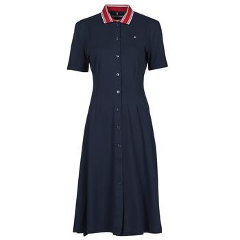 Vêtements Femme Robes courtes Tommy Hilfiger PIQUE F&F MIDI POLO DRESS SS Marine