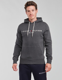 Vêtements Homme Sweats Tommy Hilfiger TOMMY LOGO HOODY Gris Anthracite