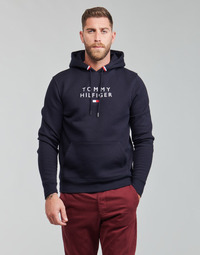 Vêtements Homme Sweats Tommy Hilfiger STACKED TOMMY FLAG HOODY Marine