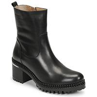 Chaussures Femme Bottines Wonders H-3932 Noir