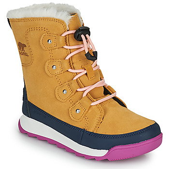 Chaussures Fille Boots Sorel YOUTH WHITNEY II JOAN LACE Camel