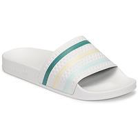 Chaussures Femme Claquettes adidas Originals ADILETTE Blanc / Vert / Rose