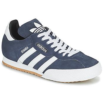 Chaussures Baskets basses adidas Originals SUPER SUEDE Marine / Bleu