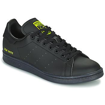 Chaussures Baskets basses adidas Originals STAN SMITH Noir / Jaune