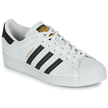 Chaussures Baskets basses adidas Originals SUPERSTAR VEGAN Blanc / Noir