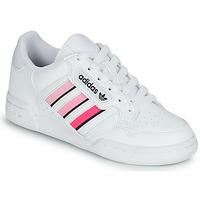 Chaussures Fille Baskets basses adidas Originals CONTINENTAL 80 STRI J Blanc / Rose