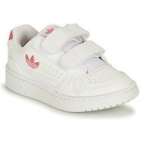 Chaussures Fille Baskets basses adidas Originals NY 90 CF I Blanc / Rose