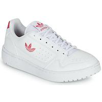 Chaussures Fille Baskets basses adidas Originals NY 90 J Blanc / Rose