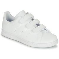 Chaussures Enfant Baskets basses adidas Originals STAN SMITH CF C Blanc