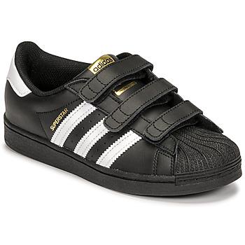Chaussures Enfant Baskets basses adidas Originals SUPERSTAR CF C Noir / Blanc