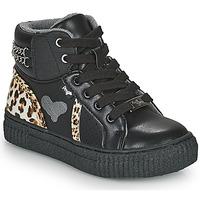 Chaussures Fille Baskets montantes Primigi GIRL ALPHA Noir / Leopard