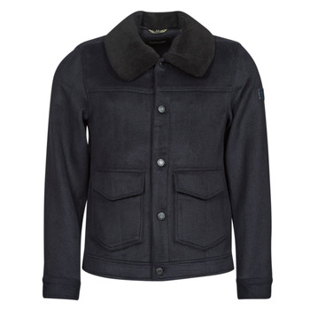 Vêtements Homme Manteaux Scotch & Soda SHERPA-TRIMMED WOOL Marine