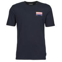Vêtements Homme T-shirts manches courtes Scotch & Soda GRAPHIC LOGO T-SHIRT Marine